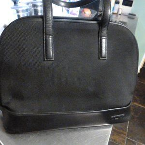 TUMI black weekender laptop carry case bag